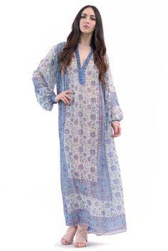 JUDITH ANN Silk Indian Dress   Spanish Moss