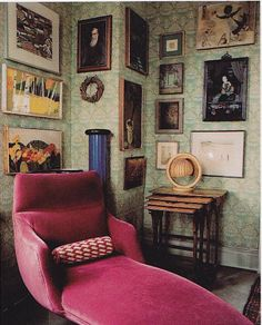 Nook (*** Need a chair like this, high backed & long legged, like me.)