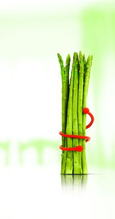 TheSiliconezone Silly Food Twist Ties help hold together #vegetables, #fruits, meat and etc. while cooking.  #diet