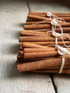 Cinnamon Sticks. Could be used as an autumn flavour or scent (e.g. a perfume or body lotion scent etc.)