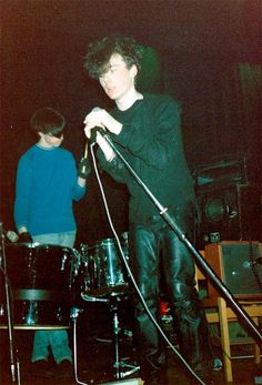 Bobby Gillespie and Jim Reid (Jesus and Mary Chain), Camden Electric Ballroom, 1985