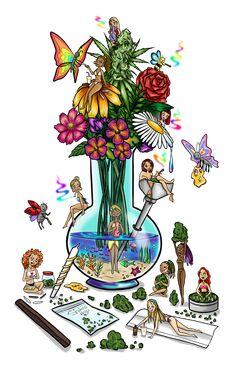 Tiny utopia Art Print by Shamsnoy - X-Small Trippy Drawings, Art Drawings, Drugs Art, Psychadelic Art, Trippy Painting, Marijuana Art, Stoner Art, Weed Art, Hippie Art