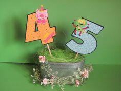 Dekoration - Große Geburtstagszahlen 1 - 99 Dekopicker - ein Designerstück von Wonderful-Paper-Art bei DaWanda