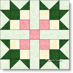MAGNOLIA quilt block pattern