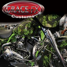 """Lime green with """"Reaper skulls"""" from Grace-FX customs"""