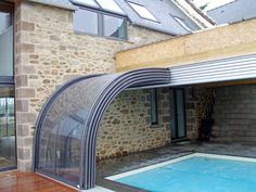 Pool Ideas: Indoor/Outdoor Retractable Pool Enclosure/ Sun Room – Decor is art Swimming Pools Backyard, Swimming Pool Designs, Piscine Diy, Swimming Pool Enclosures, Patio Enclosures, Piscina Interior, Swiming Pool, Small Pools, Dream Pools