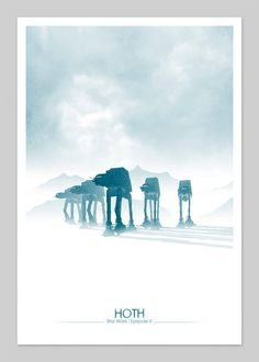 Star Wars Hoth | By: DirtyGreatPixelsUK, via Etsy | #starwars #starwarsfanart #starwarsepisodeV #empirestrikesback #hoth