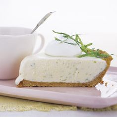 In this frosty version of Key lime pie, we swirled vanilla ice cream into the condensed-milk mixture.