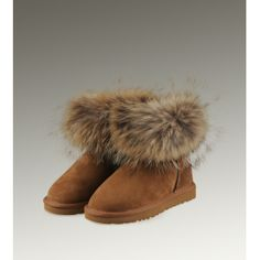 Modern Luxury Ugg Fox Fur Mini 5854 Boots For Girls On New Style Fox Fur