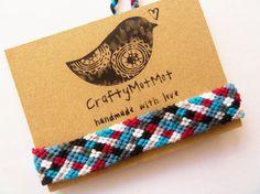 Chessboard Friendship Bracelet unisex knotted by CraftyMotMot