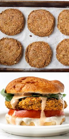 These healthy butternut squash white bean burgers are simple to make and full of flavor! They're baked and have an awesome texture not mushy at all! The BEST easy homemade burger recipe for vegans or vegetarians plus this recipe is naturally gluten-free! Whole Food Recipes, Vegan Recipes, Cooking Recipes, Vegetarian Recipes Videos, Free Recipes, Soup Recipes, Easy Homemade Burger Recipe, Simple Burger Recipe, Best Vegan Burger Recipe
