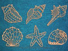 SLDK320 - Seashell Filigree Ornaments