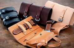 TedSU Leather Watch Travel Pouch with room for a watch, a strap and a strap changing tool. $200