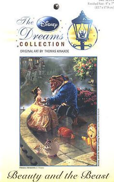 Cross Stitch Kit ~ Thomas Kinkade / Disney Beauty and the Beast #52555
