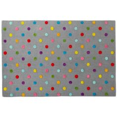 Love this rug. Bright and colorful and the grey background means it won't get dirty easily.