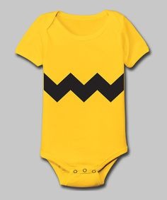 Another great find on #zulily! Tuxedo Tees Yellow Zigzag Bodysuit - Infant by Tuxedo Tees #zulilyfinds