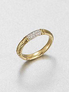 John Hardy Diamond and 18K Yellow Gold Ring    4,177 EGP