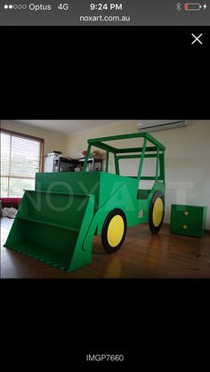 Black and grey tractor bed