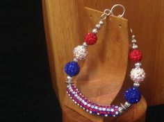 Fourth of July - Handmade Beaded Bracelet - The Fourth of July by TheWarriorsJewelry on Etsy