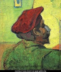 Paul Gauguin (Man In A Red Beret) - Vincent Van Gogh Reproduction