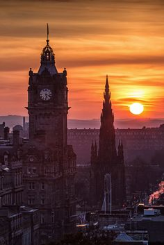 Sunset in Edinburgh, Scotland