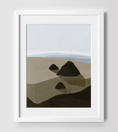 Landscape Art Print, Modern Art, Living Room Decor, Beach Decor, Coastal Decor, Ocean Art, Abstract Seascape, Oregon Coast