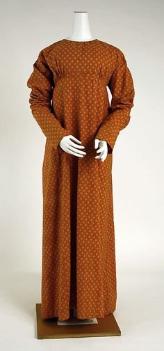 evening gown 1815 | French Cotton Dress, circa 1807-12