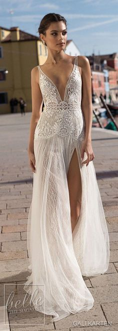 Gali Karten Wedding Dresses 2018 - Burano Bridal Collection features exquisite gowns in a plethora of gorgeous silhouettes. Lace Bridal, Bridal Style, Bridal Tiara, Wedding Dresses 2018, Bridal Dresses, Dress First, The Dress, Vestidos Vintage, Dream Dress