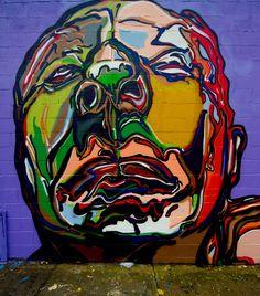 Welling Court features work by street artists from around the world. New York Street Art, Graffiti Wall, Arte Pop, Stencil Art, Dope Art, Street Artists, Public Art, Black Panther, Urban Art