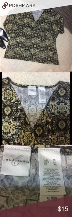 "Emma & James Career Blouse Ladies XL Very good condition bust 48"" length 27"" Emma James Tops Blouses"