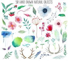 Natural watercolor - Illustrations - 2