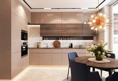 The Simple Ways to Understanding Kitchen Trends For 2019 Diaries - homesuka Kitchen Room Design, Kitchen Cabinet Design, Modern Kitchen Design, Living Room Kitchen, Home Decor Kitchen, Home Kitchens, Modern Kitchen Interiors, Modern Home Interior Design, Cuisines Design