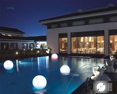 Glowing LED spheres by Power Beauty (yes, that's really who makes these).