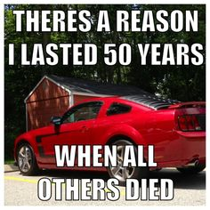 Exactly. The first, the original muscle car. Often imitated but NEVER EVER duplicated. Mustang L??VE. (Ford Mustang Humor)