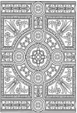 Yet another way to stop chasing your thoughts and practice active meditation. 30 Coloring page Tiles - Download or color on-line.