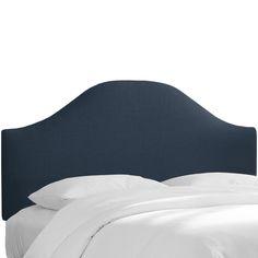 Alcott Hill Linen Curved Upholstered Panel Headboard & Reviews | AllModern