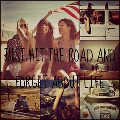 summer road trip with friends sounds good to me:)