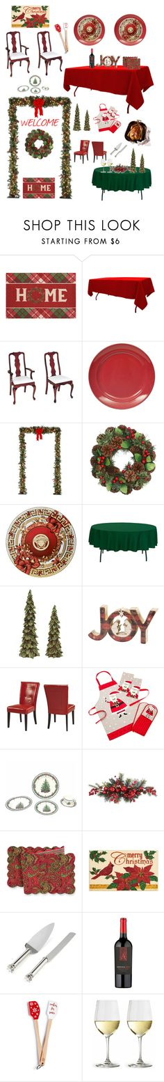 """""""#PolyPresents: Dinner Party"""" by kotnourka ❤ liked on Polyvore featuring interior, interiors, interior design, home, home decor, interior decorating, St. Nicholas Square, DutchCrafters, Improvements and M&Co"""