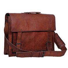 ef59d424ca Komal s Passion Leather 18 Inch Retro Laptop Messenger Bag Leather Briefcase