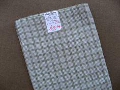 Vintage fabric Viyella cloth green cream and by VintageRoseTattoo, $24.00