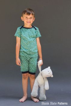 Sleepover Pajamas - PDF Sewing Pattern for Boys and Girls by Blank Slate Patterns