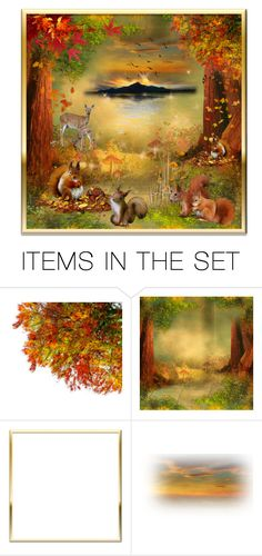 """""""Gathering nuts for winter!"""" by callmerose ❤ liked on Polyvore featuring art"""