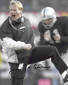 Jon Gruden, Oakland Raiders, Signed, Autographed, 8X10 Photo, a COA with the Proof Photo of Jon Signing Will Be Included