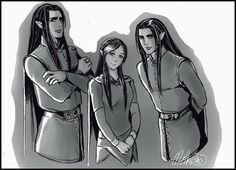 The Twins and Arwen by MellorianJ on deviantART