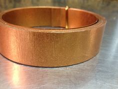 Extra wide matte copper  flat wire 1 inch x 15 feet