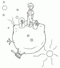 Baú da Web: Desenhos do Pequeno Príncipe para Colorir
