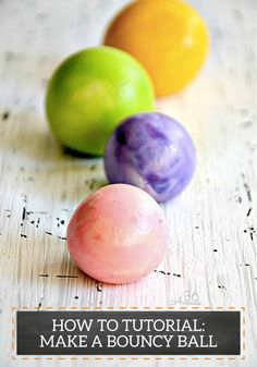 Follow this fun tutorial to help your kids create their very own DIY Bouncy Ball! Let them customize this toy by choosing their favorite colors.