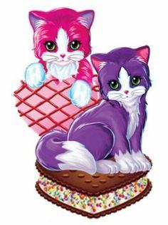 Kittens and sweets Art Kawaii, Lisa Frank Stickers, Morning Cartoon, Girly, Jolie Photo, 90s Kids, Cat Art, Animal Drawings, My Little Pony