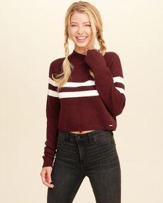12dc2d7dd18 Hollister Mockneck Crop Sweater. (affiliate) Hollister Clothes