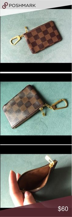 New Louis Vuitton key pouch Key holder key chain card holder Louis Vuitton Accessories Key & Card Holders